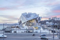 At the confluence of the Rhone and Saone Rivers in Lyon, France, Musee de Confluence rests atop a 100 year old artificial peninsula. The firm won an internat...