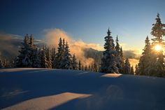 awesome atmosphere in winter - wunderschöne Winterstimmung Das Hotel, Mountains, Awesome, Nature, Travel, Outdoor, Ski Trips, Winter Vacations, Vacation Places
