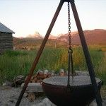 Cowboy Cauldron Fire Pit - I want one of these. What a fire pit / BBQ combo!