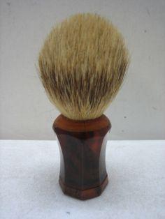 Vintage Amber Bakelite Badger Hair Shaving Brush | eBay