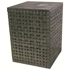 "Belfort, Stock, $199, Width: 13""  x  Depth: 13""  x  Height: 18"", Sku: IMAR16534, Marlow Square Woven Metal Accent Table"