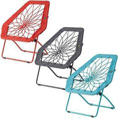 Goulding remember these? The Bunjo Hex Chair features a metal frame with real nylon bungee cord that is uniquely weaved through the center to form a fun seat. Looks great in a dorm, family room or as a stylish accent in a living room. My New Room, My Room, Bungee Chair, Wooden Office Chair, Office Chairs, College Dorm Decorations, House Decorations, Dorm Life, College Life