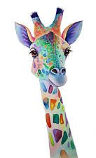 Giraffe Pictures, Animal Art Prints, Giraffe Art, Gouache Painting, Pictures To Paint, Whimsical, Diy Crafts, Wall Art, Watercolors