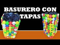MANUALIDADES / Como Hacer una Canasta con tapas de botellas recicladas / RECICLAJE - YouTube