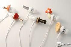 Fones de ouvido bem criativos...