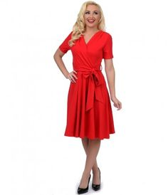 Charming, chic and comfortable? That's the Lombard for you, dear. A picturesque red dress rich in 1950s vintage appeal f...Price - $128.00-OgdXGp2g