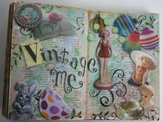Modify an old book to make an art journal. Quick and simple. A nice idea on making an ABC Book About Me, too!