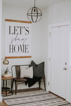 Let's Stay Home- Cute Vignette!