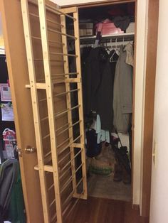 DIY overdoor shoe rack