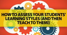 Knowing This Now Might Make All the Difference in Your Classroom: How to Assess Your Students' Learning Styles (and Then Teach to Them!)