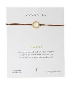 Dogeared Karma Linen Bracelet #accessories  #jewelry  #bracelets  https://www.heeyy.com/suggests/dogeared-karma-linen-bracelet-gold/