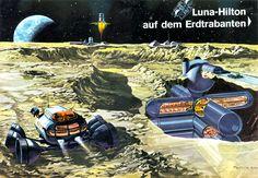 Luna Hilton, concept art by Klaus Bürgle