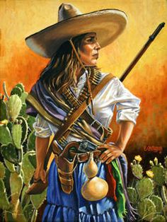Soldaderas were female warriors that took part in the Mexican Revolution against Porfirio Diaz. Description from wotta.com.br. I searched for this on bing.com/images