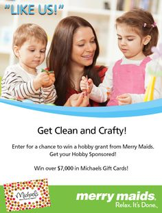 Enter for a chance to win a hobby grant from Merry Maids.  I need a HOT Merry Maid ;)