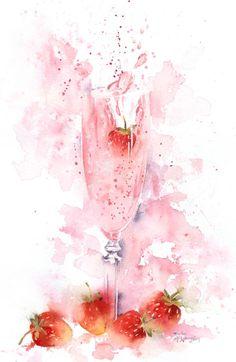 Leading Illustration & Publishing Agency based in London, New York & Marbella. Watercolor Drawing, Watercolor Cards, Watercolor Illustration, Watercolor Flowers, Watercolour Tutorials, Watercolor Techniques, Wine Art, Art Sketchbook, Art Drawings