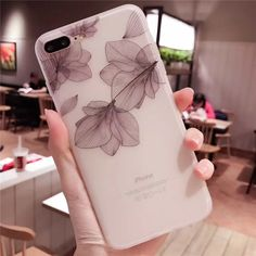 Cherry Petals 3D Relief Silicone Case For Iphone Lace Leaves Back Cover Iphone 8 Plus, Cute Phone Cases, Iphone Phone Cases, Phone Cover, Apple Iphone, Floral Iphone Case, Silicone Phone Case, Iphone Models, 6s Plus