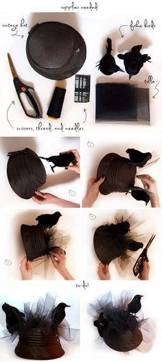 "DIY: ""THE BIRDS"" INSPIRED PILLBOX HAT"