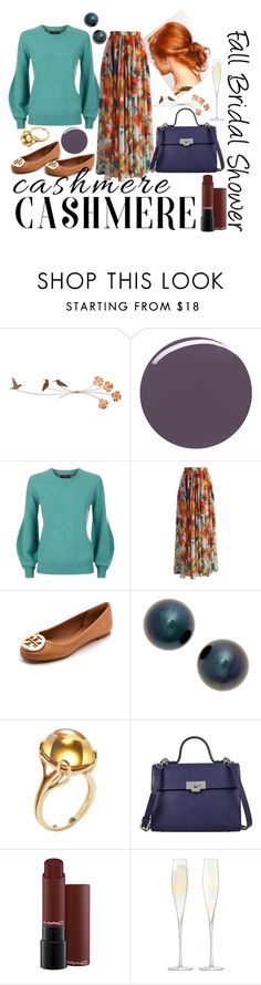 """""""Fall Bridal Shower"""" by cnhameister ❤ liked on Polyvore featuring JINsoon, Burberry, Chicwish, Tory Burch, Poppy Finch, Goshwara, Lodis, LSA International, contestentry and cashmere"""