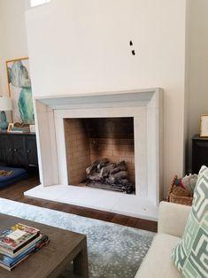 Contemporary Fireplace Mantels, Modern Fireplace Decor, Custom Fireplace, Home Fireplace, Fireplace Remodel, Fireplace Design, Modern Fireplaces, Bedroom Fireplace, Modern Decor