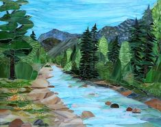 Animas River - by Cork and Glass Mosaics