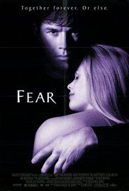Fear Poster year 1996. Mark Wahlberg played David McCall.