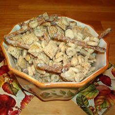 White Chocolate Party Mix      Fast, Easy and Yummy. Great phttp://allrecipes.com/Cook/1243865/Photo.aspx?photoID=24653arty favorite