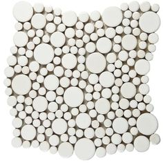 SomerTile 11.25x12-inch Posh Bubble White Porcelain Mosaic Wall Tile (Case of 10) - Free Shipping Today - Overstock.com - 14075045