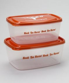 Take a look at this Texas Rectangle Food Storage Set by Tailgate Essentials Collection on #zulily today!