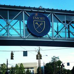 Beautiful photo of the pedestrian bridge linking the Emory University Hospital and the Emory Clinic buildings.   Photo by taraliana