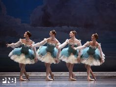 "Brittany Reid, Laura Tisserand, Chelsea Adomaitis and Kylee Kitchens, ""The Sleeping Beauty"", Pacific Northwest Ballet"