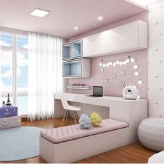 This image may contain: living room and indoors - - Cute Bedroom Ideas, Cute Room Decor, Girl Bedroom Designs, Room Ideas Bedroom, Bedroom Decor, Stylish Bedroom, Dream Rooms, House Rooms, Girl Room
