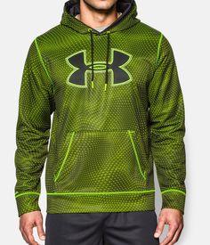 Men's UA Storm Armour® Fleece Big Logo Rattle Hoodie, High-Vis Yellow, zoomed image
