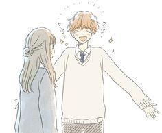 埋め込み Cute Couple Drawings, Girly Drawings, Manga Couple, Anime Love Couple, Cartoon Girl Drawing, Cartoon Drawings, Pretty Art, Cute Art, Character Design Teen