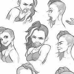 Character Sketches, Character Design References, Character Drawing, Art Sketches, Art Drawings, Facial Expressions Drawing, Illustration, Drawing Poses, Drawing Ideas