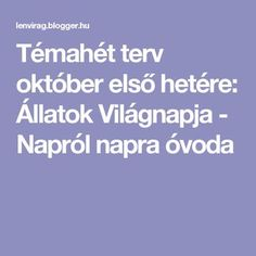 Témahét terv október első hetére: Állatok Világnapja - Napról napra óvoda Kids And Parenting, Kids Learning, Elementary Schools, Montessori, Activities For Kids, Kindergarten, Preschool, Teaching, Education