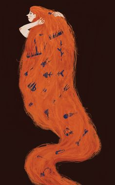 'Rapunzel' by Brooklyn-based American artist & illustrator Sarah Green. via the artist's site