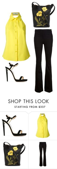 """""""Outfit Idea by Polyvore Remix"""" by polyvore-remix ❤ liked on Polyvore featuring Jimmy Choo, STELLA McCARTNEY and Frame Denim"""