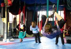 Cool Workout Idea - aerial yoga