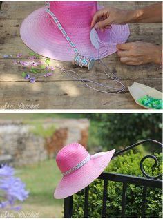 sombrero-pintado-con-spray-degradado by Sra. Cricket