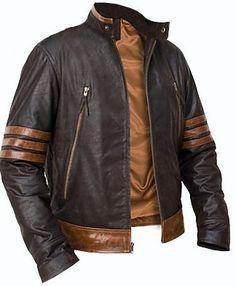 X-Men Wolverine leather jacket, x men movie leather jacket, brown leather jacket