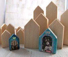 ...artchix studio's little wooden houses