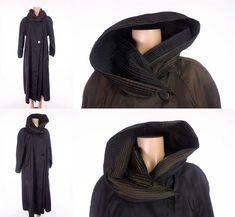 MYCRA PAC ONE Trench 0/P 6 8 M Oversized Black Brown Reversible Rain Coat Mac #MycraPac #TrenchCoat #Outdoor
