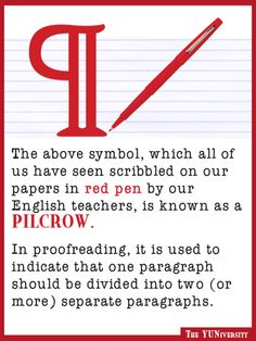 It's a pilcrow. {And