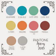 Spring 2015 Pantone Color Trends | Pantone's Spring 2015 Color Palette