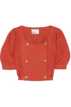 6cee1d117d Lisa Marie Fernandez | Diana linen-blend midi skirt | NET-A-PORTER ...