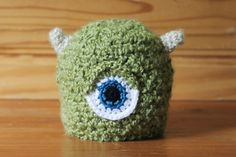Monster Hat: MIKE! | Available exclusively on Monster Hat Island! Check out all the one-of-a-kind crochet monster hats at monsterhatisland.com.