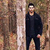 Gif of Tyler Hoechlin and the best exit ever! #TeenWolf #DerekHale