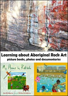 Learning about Aboriginal Rock Art in Kakadu. A list of picture books about Kakadu, photographs and links to a FREE online documentary about Kakadu and the traditional owners.