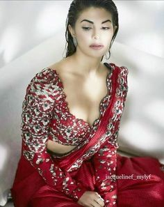 Silk Saree Blouse Designs - Full Sleeve Blouse Designs For Silk Sarees Latest Saree Blouse, Latest Silk Sarees, Pattu Saree Blouse Designs, Indian Celebrities, Bollywood Celebrities, Bollywood Fashion, Bollywood Girls, Bollywood Actress, Jacqueline Fernandez