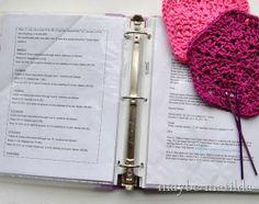 Crochet Pattern Organization Tips ✿⊱╮Teresa Restegui http://www.pinterest.com/teretegui/✿⊱╮
